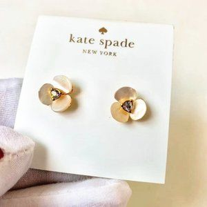 Kate Spade Disco Pansy Flower Stud Earrings